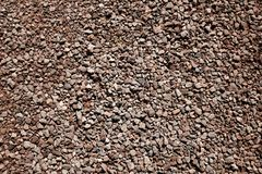 Dry stony ground.Soil on the ground as texture and background stock images