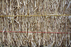 Dry straw bale Royalty Free Stock Images