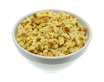 Dry stuffing mix in an old bowl Stock Photography