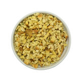 Dry stuffing mix in an old bowl top view Royalty Free Stock Photos