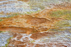 Dry surface at Pamukkale travertines Royalty Free Stock Photos