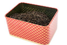 Dry tea in a box Royalty Free Stock Photo