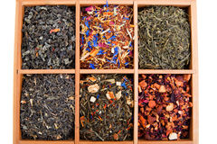Dry tea collection Royalty Free Stock Photos