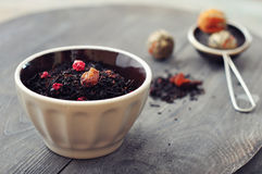 Dry tea with dried berries Royalty Free Stock Image