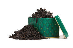 Dry tea leaves in a box Stock Images