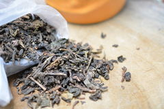Dry tea leaves Royalty Free Stock Photography