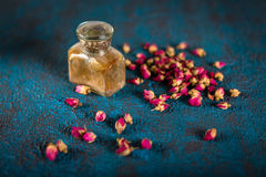 Dry tea rose buds Stock Photo