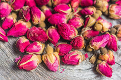 Dry tea rose buds Royalty Free Stock Images