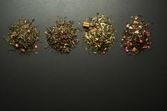 Dry teas and herbs collection Royalty Free Stock Photography