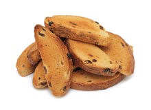 Dry toast, isolated Stock Photos