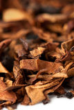 Dry tobacco leaves Royalty Free Stock Photography