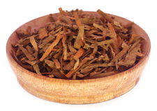 Dry tobacco leaves Royalty Free Stock Images