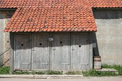 Dry toilet horizontal Stock Photos