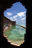 Dry Tortugas National Park. A view from Samuel Mudd's prison cell in historic Fort Jefferson Stock Image