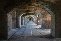 Dry Tortugas National Park. Arches in Historic Fort Jefferson, Florida Keys Stock Photography