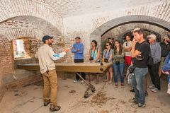 Dry Tortugas National Park Tour in Fort Jefferson stock photos