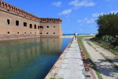 Dry Tortugas National park walkway Stock Photos