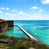 Dry Tortugas ocean view Royalty Free Stock Photo