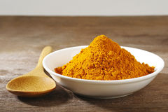 Dry turmeric powder Royalty Free Stock Photography
