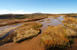 Dry up rivers. Autumn grassland dry up rivers stock images