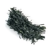Dry Wakame Seaweed. Isolated on White Background. Healthy Algae Food Royalty Free Stock Photos