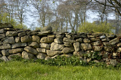 Dry wall. Dry stone wall Royalty Free Stock Photography