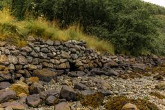 Dry-Wall on a trek along the Naerofjord in Norway - 3 Stock Photography