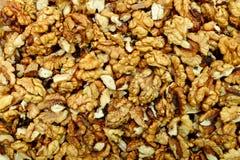 Dry walnuts texture Stock Photography
