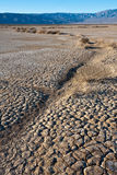 Dry Water Bed in Death Valley. Parched earth in Death Valley Nation Park, California stock image