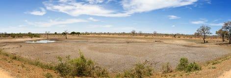Dry waterhole panorama Royalty Free Stock Photography