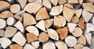 Dry and wet firewood Stock Photos