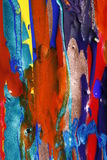 Dry and wet paint background. Abstract composition of dried and wet paints, some of them with lustre, some glittering Stock Photography