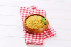 Dry wheat bulgur Royalty Free Stock Photo
