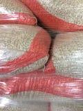Dry white beans in  sacks Stock Images