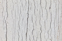 Dry white paint with upright cracks Royalty Free Stock Photos