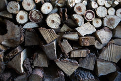 Dry wood for fire. In our village I found room full of dry wood.  ready for winter Stock Image