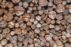 Dry Wood pile in Gramado. Rio Grande do Sul, Brazil Royalty Free Stock Image