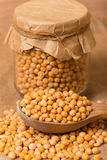 Dry yellow peas Royalty Free Stock Photography