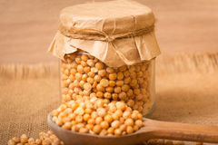 Dry yellow peas Stock Image