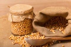 Dry yellow peas Stock Photo