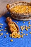 Dry yellow peas Stock Photos