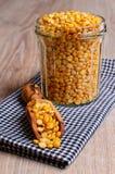 Dry yellow peas Stock Photography