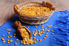 Dry yellow peas Royalty Free Stock Image