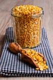 Dry yellow peas Royalty Free Stock Photos