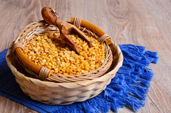 Dry yellow peas Royalty Free Stock Images