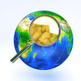 Dry Zoom in view of Earth Royalty Free Stock Images