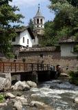 Dryanovo Monastery Bulgaria Summer. Dryanovo monastery in Bulgaria, entrance from the river and the bridge Royalty Free Stock Photography