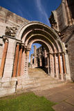 Dryburgh Abbey. In the Scottish Borders sits in a secluded and peaceful spot near the River Tweed and still retains the quiet, contemplative atmosphere of a royalty free stock image