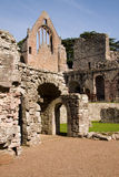 Dryburgh Abbey. In the Scottish Borders sits in a secluded and peaceful spot near the River Tweed and still retains the quiet, contemplative atmosphere of a stock image