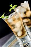 Dryck i ett exponeringsglas Royaltyfri Foto